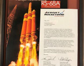 Appréciation d'Aerojet Rocketdyne